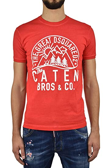 7daf61f646 Dsquared2 T-Shirt Caten - M - Size: M - Color: Rosso: Amazon.co.uk ...