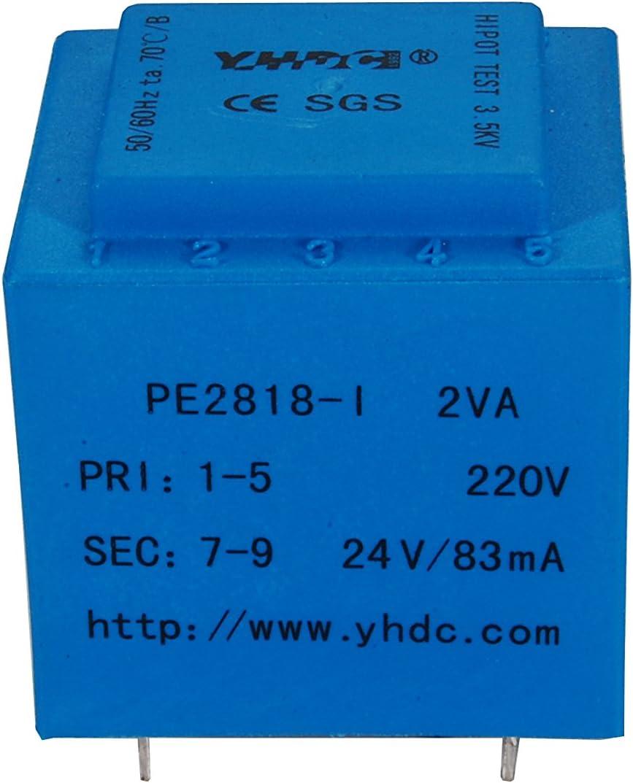 YHDC Transformadores de PCB PE2818-I 2VA Entrada: 220V Salida: 24V