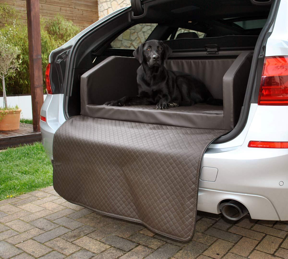 Mayaadi Home Hundebett Kofferraum Bett Travel Autohundebett Schutzdecke Kunst Leder Autositz