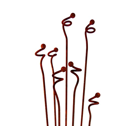 Metal Garden Art Sculpture  Curly Weeds Garden Stakes Sold Individually  Sculptures Home Décor