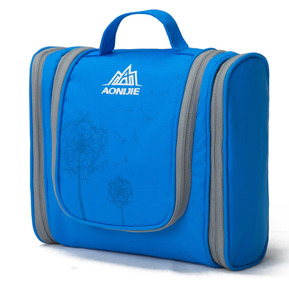 AoMagic Large Capacity Travel Cosmetic Bag Shaving Bag On A Business Trip Blue
