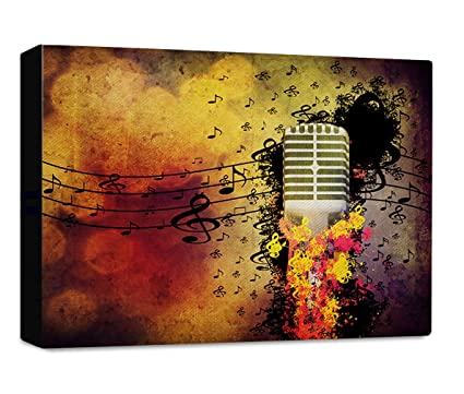 Amazon Com Abstract Music Background Microphone Streched