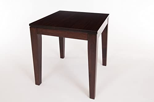 Bamboogle Interiors Brazil Collection Modern Bamboo End Table in Rich Java Espresso Finish