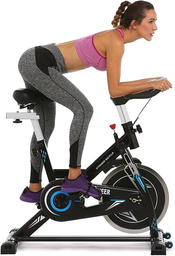 V/élo dAppartement avec /Écran LCD//R/ésistance R/églable//Poign/ée dImpulsion 330 lbs ANCHEER V/élo de Fitness /à Domicile pour Exercice dA/érobie Charge Maximale