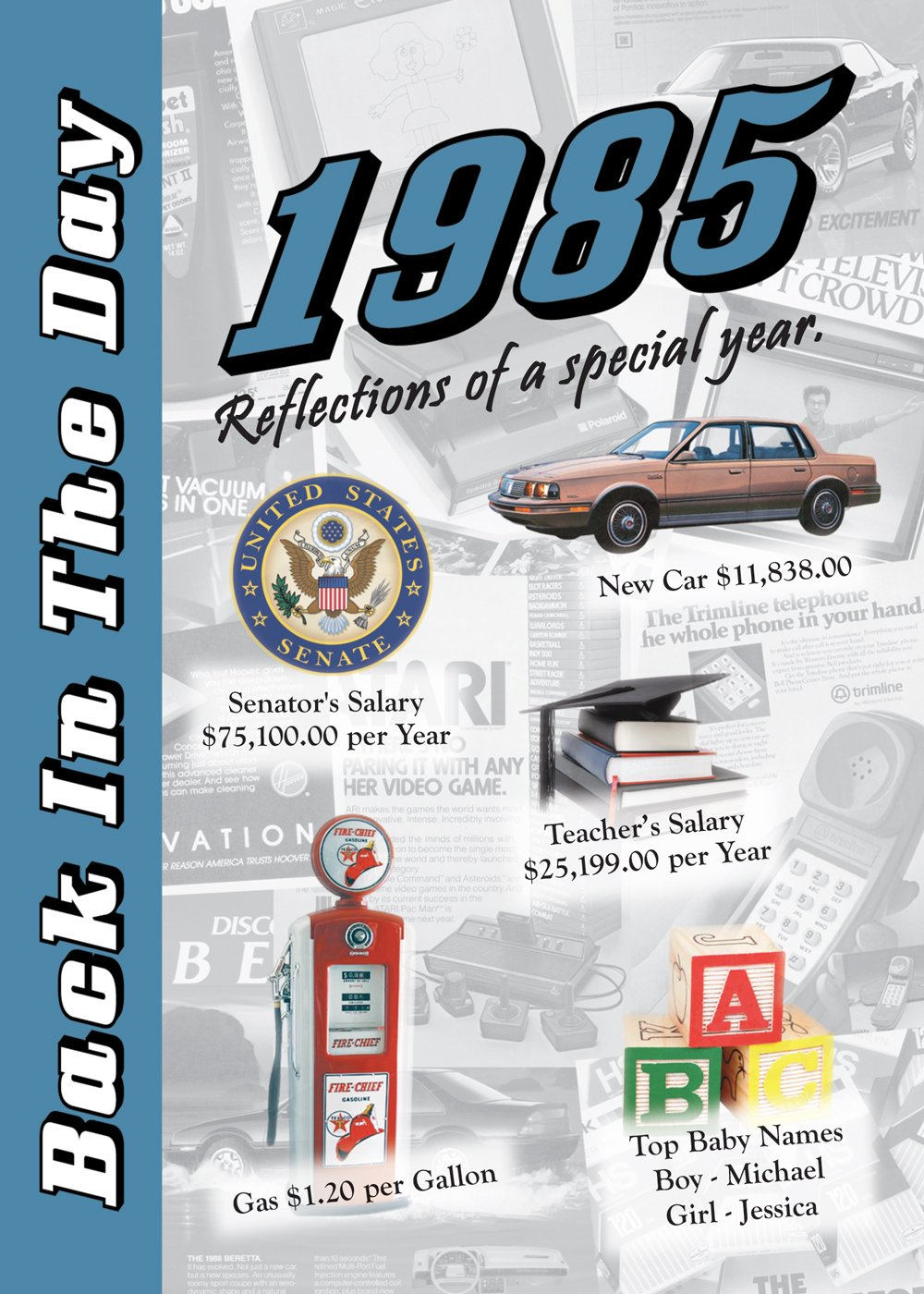 Download 1985 Back In The Day Almanac -- 24-page Booklet / Greeting Card pdf