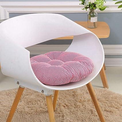 Almohadillas de silla gruesas redondas Cojín de asiento ...