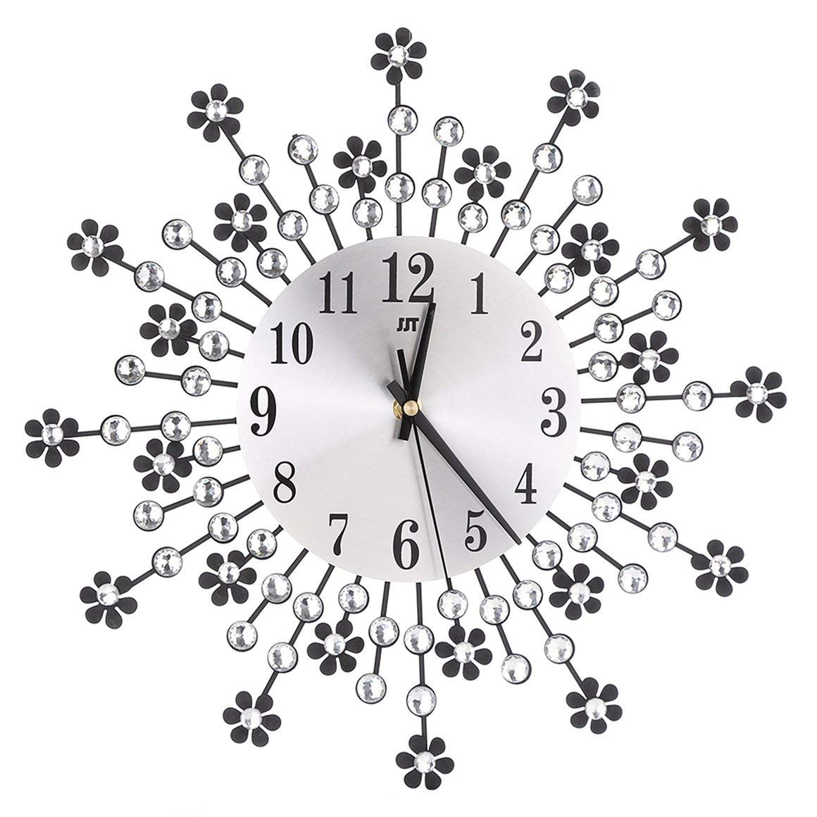 Funnyrunstore Reloj de Pared Oversize Large Flower Art Metal ...