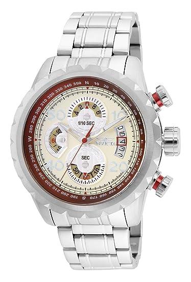 Invicta Aviator Reloj de Hombre Cuarzo Correa y Caja de Acero 28143: Amazon.es: Relojes