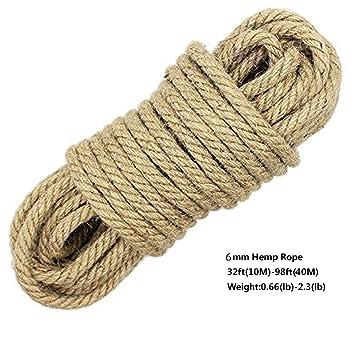 luoov cuerda 100 natural de camo 8 mm de - Cuerda De Caamo