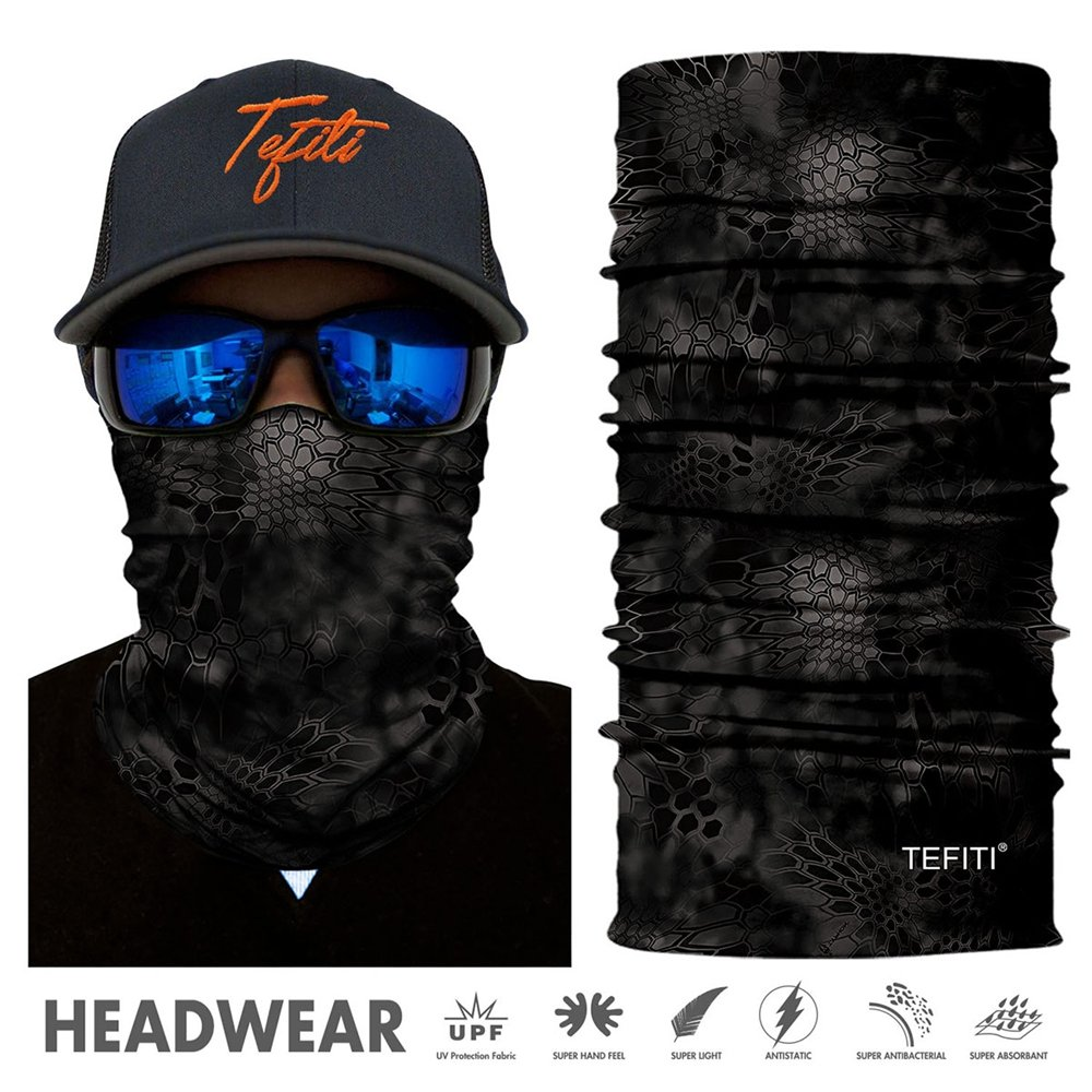 Biking Snowboarding Hiking Riding Skiing Hunting Yoga and Athletic Sports Activities IORMAN Multi-Functional Headwear /& Headbands /& Bandanna /& Face Masks for Running Working Out