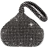 JIAN YA NA Fashion Women Rhinestone Trihedral Clutch Evening Bag Bling Zipper Party Purse