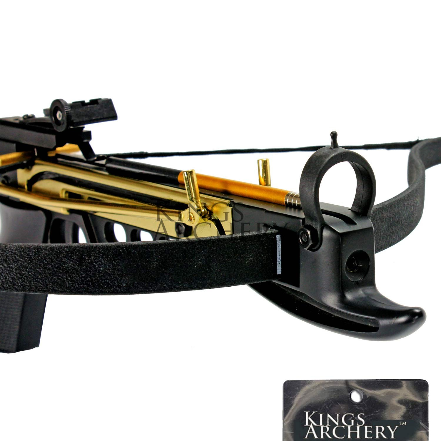 Crossbow Self-Cocking 80 LBS by KingsArchery® with Hunting Scope, 3 Aluminium Arrow Bolts, and Bonus 120-pack of Colored PVC Arrow Bolts + KingsArchery® Warranty by KingsArchery (Image #7)