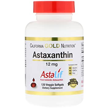 California Gold Nutrition, Astaxanthin, 12 mg, 120 Veggie Softgels, Milk-Free