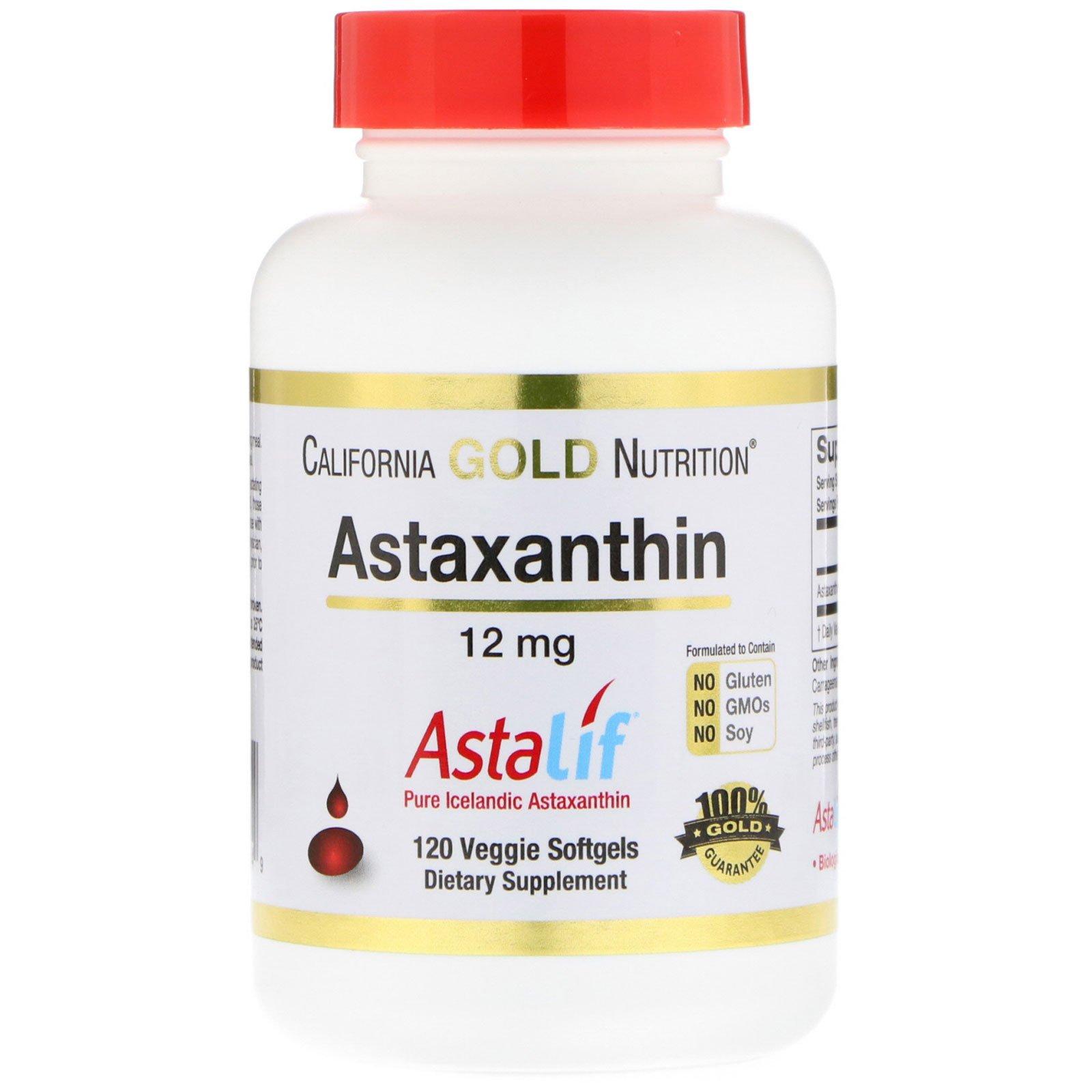 California Gold Nutrition, Astaxanthin, Astalif, 12 mg, 120 Veggie Softgels