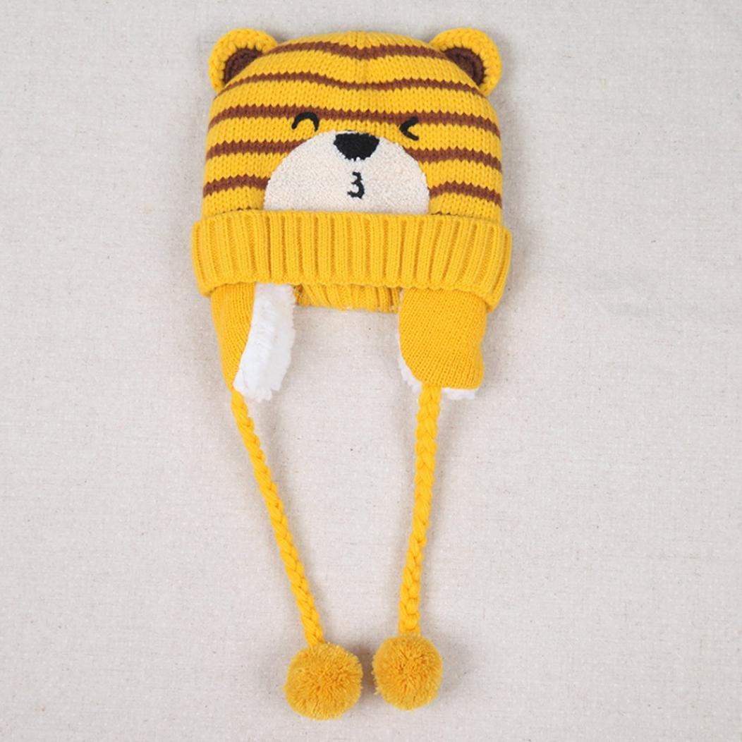 sombreros de invierno Baby Boys Girls Beanie Pocket Cotton Hat Niños Imprimir sombreros de tejer ropa bebe by Xinantime (C): Amazon.es: Hogar