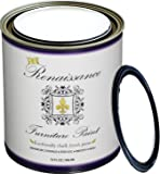 Renaissance Chalk Furniture & Cabinet Paint - Snow - Qt (32oz) - Non Toxic, Eco-Friendly, Superior Coverage -