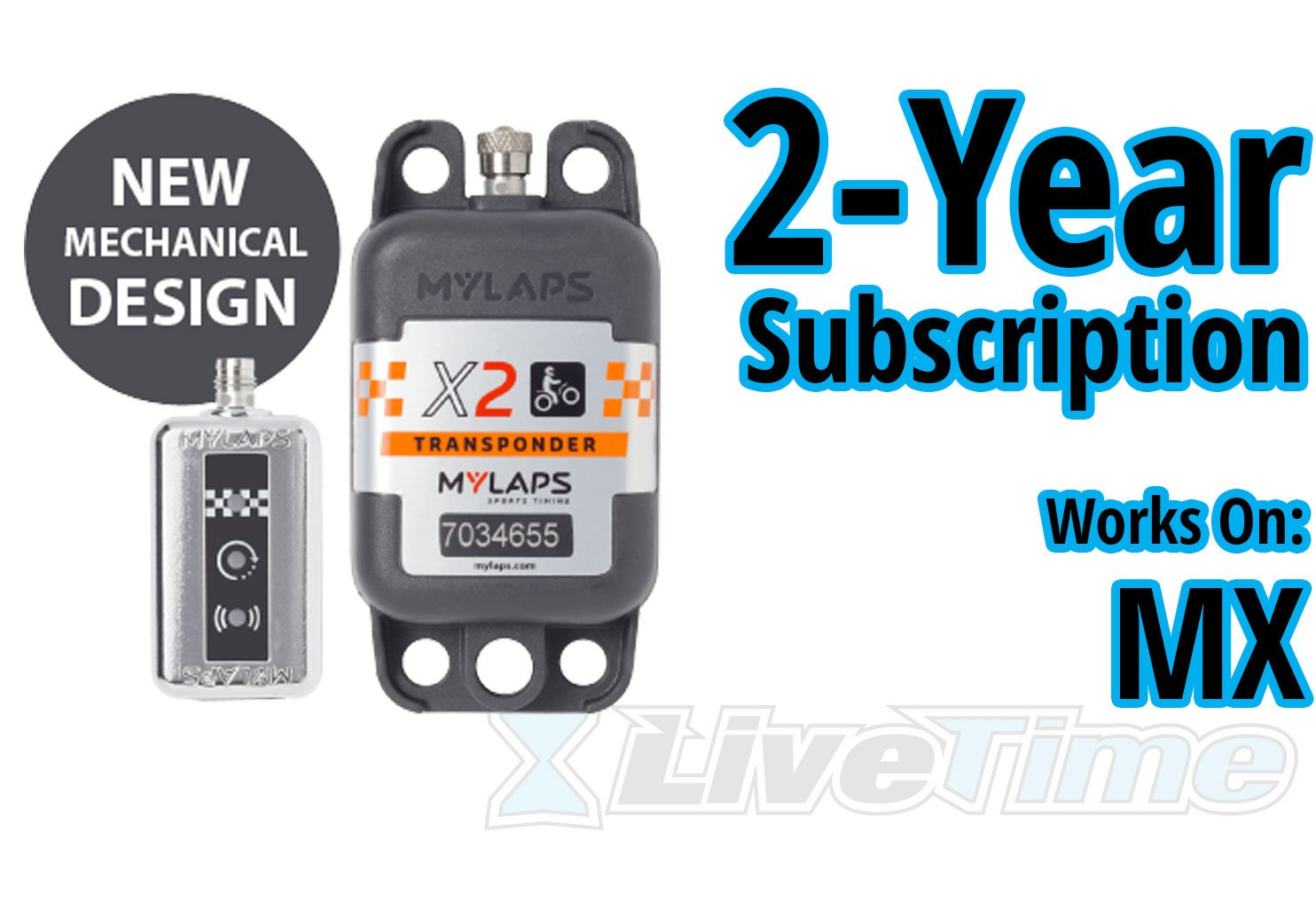for MX includes 2-Year Subscription motocross MyLaps X2 Transponder Rechargeable