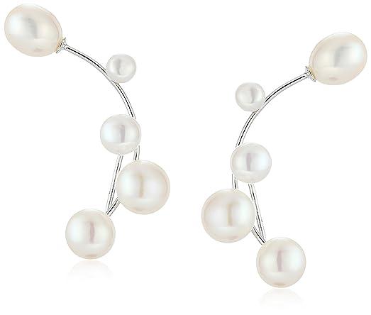 Bella Pearls Sterling Silver Freshwater Pearl Ear Climbers n5tqQiO