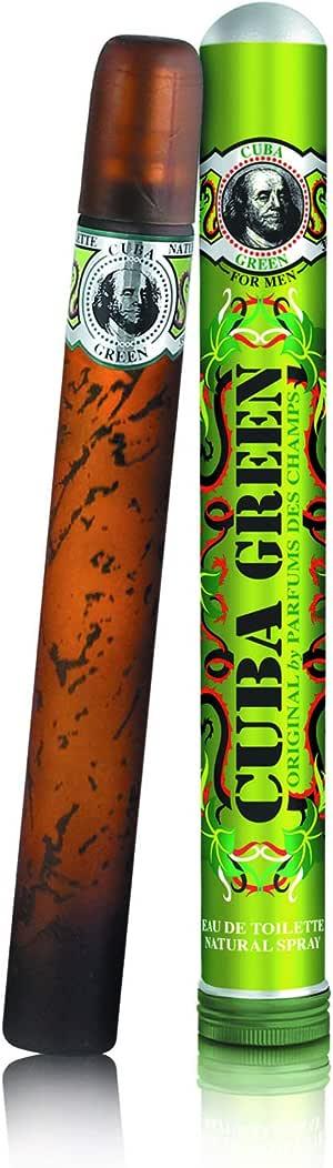 Cuba Eau de Toilette Spray for Men, Green, 35ml