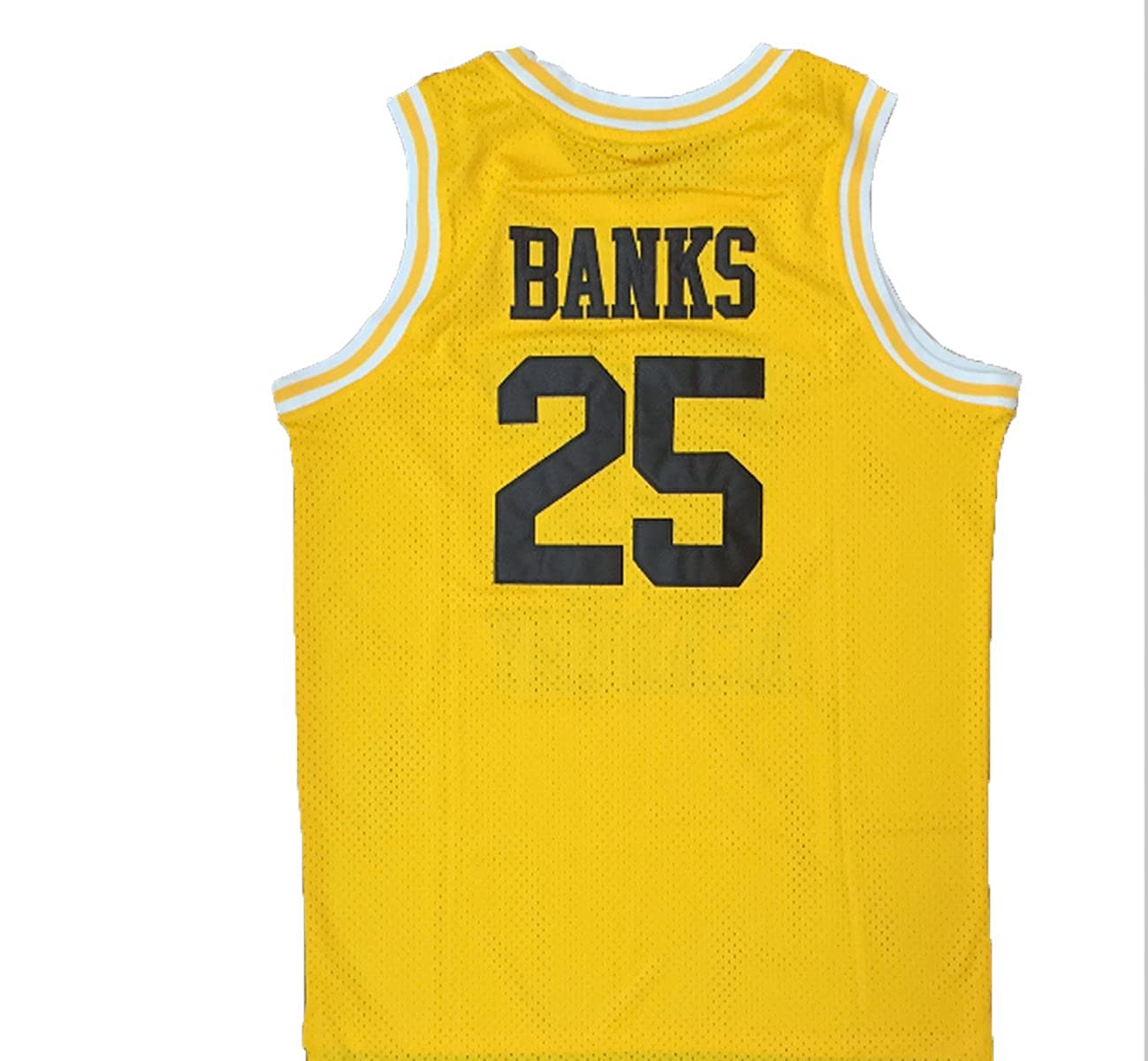 27f972c3ea9 Amazon.com  MyPartyShirt Carlton Banks  25 Yellow Basketball Jersey Fresh  Prince of Bel Air Academy Gift  Clothing