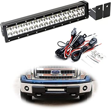 how to wire in a 7 blade ford f150 2010 amazon com ijdmtoy lower grille mount led light bar kit  lower grille mount led light bar