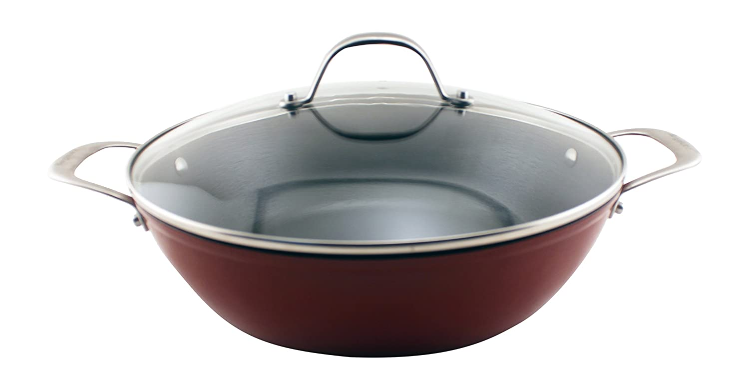 BergHOFF Light Cast Iron 12 Red Braiser