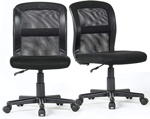 2-Packs YAMASORO Office Mesh Task Chair Mid Back Swivel Computer Desk Chair