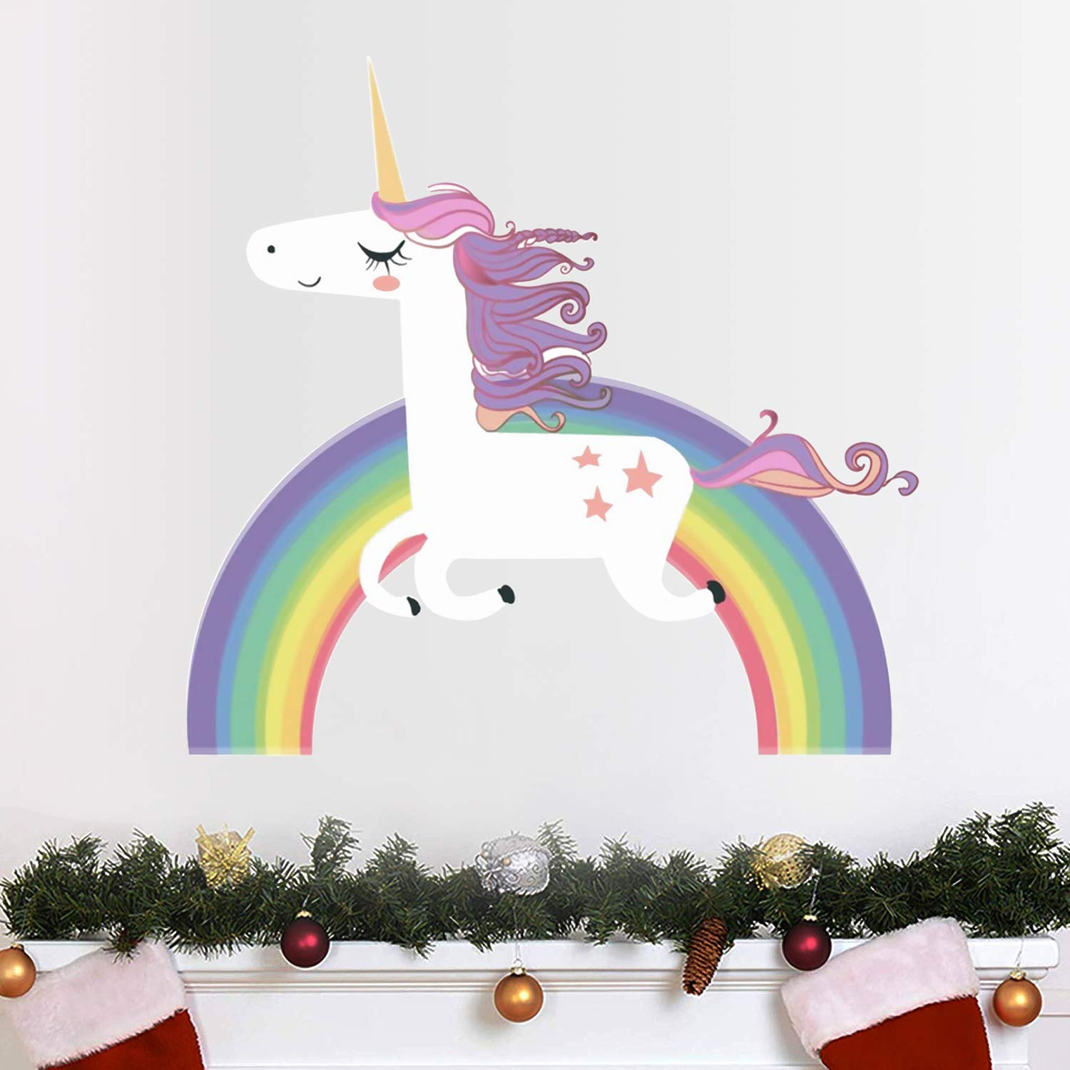Vinilo Decorativo Pared [7L8S4N4K] unicornio