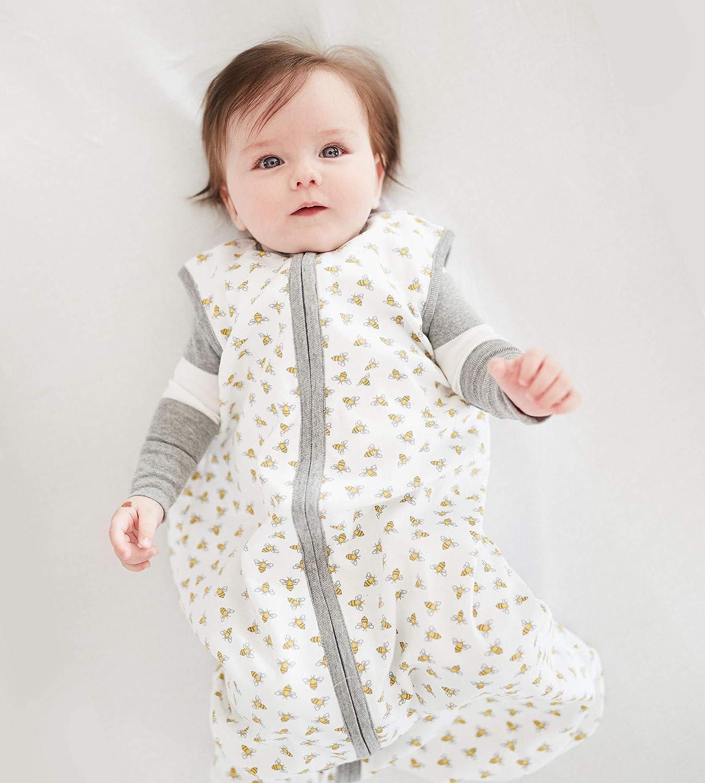 100/% Organic Cotton Swaddle Transition Sleeping Bag Burts Bees Baby Beekeeper Wearable Blanket