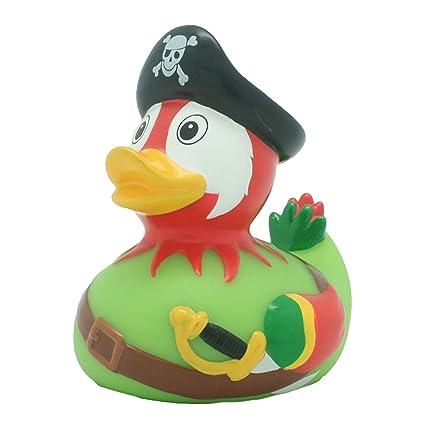 Pato de baño Pato loro pirata, pato de goma, Pato de goma, Pato