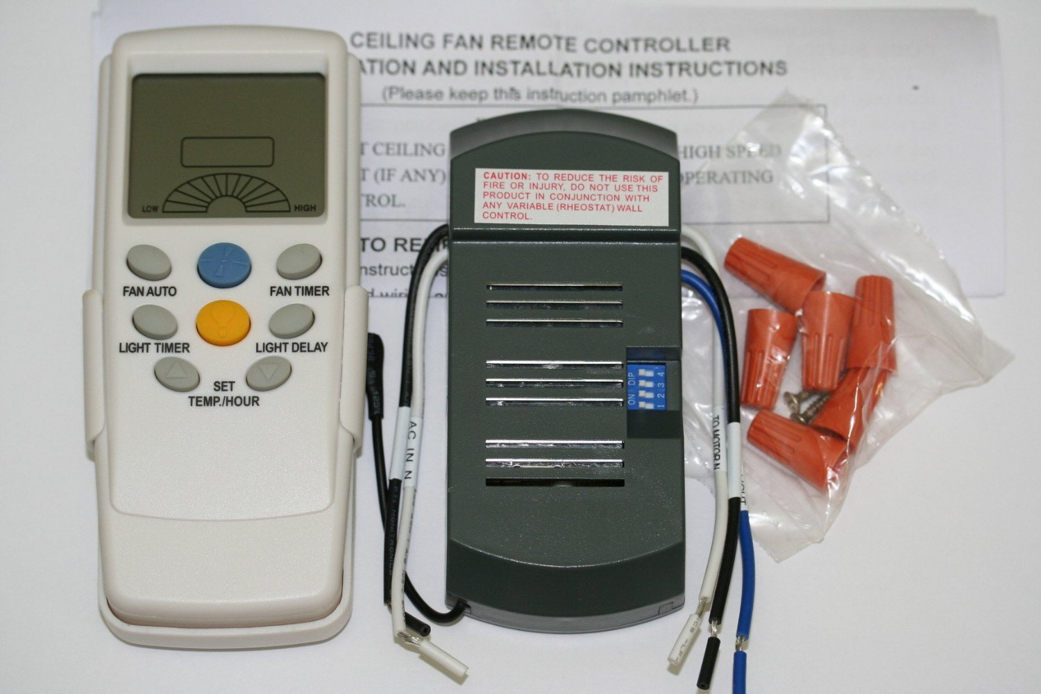Ceiling Fan Timer: Universal Thermostatic Ceiling Fan and Light Remote Control Conversion Kit  - Remote Kit For Ceiling Fans - Amazon.com,Lighting