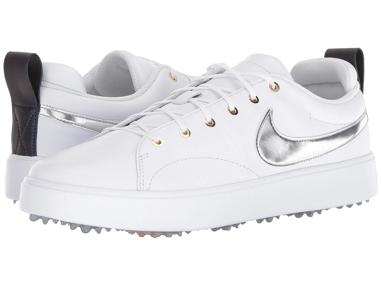 [NIKE(ナイキ)] メンズゴルフシューズ靴 Course Classic White/Metallic Silver/Metallic Gold 7.5 (25.5cm) D - Medium B07D8JQQXX