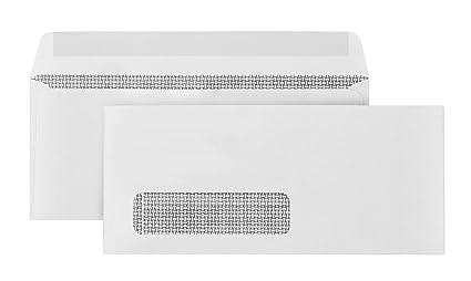 500 #10 Single Window Envelopes Thick Gummed Seal Designed For Secure  Mailing Of