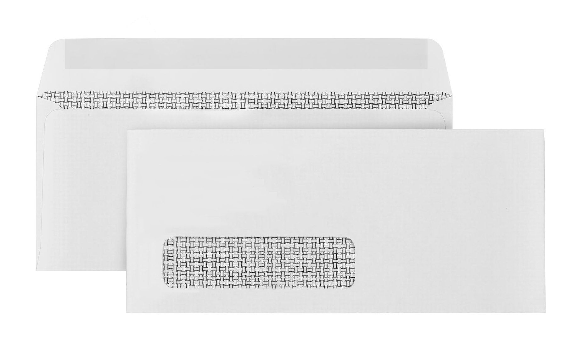 500 #10 Single Window Envelopes-Thick Gummed Seal-Designed for secure mailing of Quickbooks checks, invoices, business statements, personal letters - 4 1/8 x 9 1/2