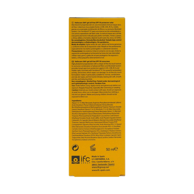 Amazon.com: Heliocare 360 SPF 50 + Gel sin aceite 50 ml ...