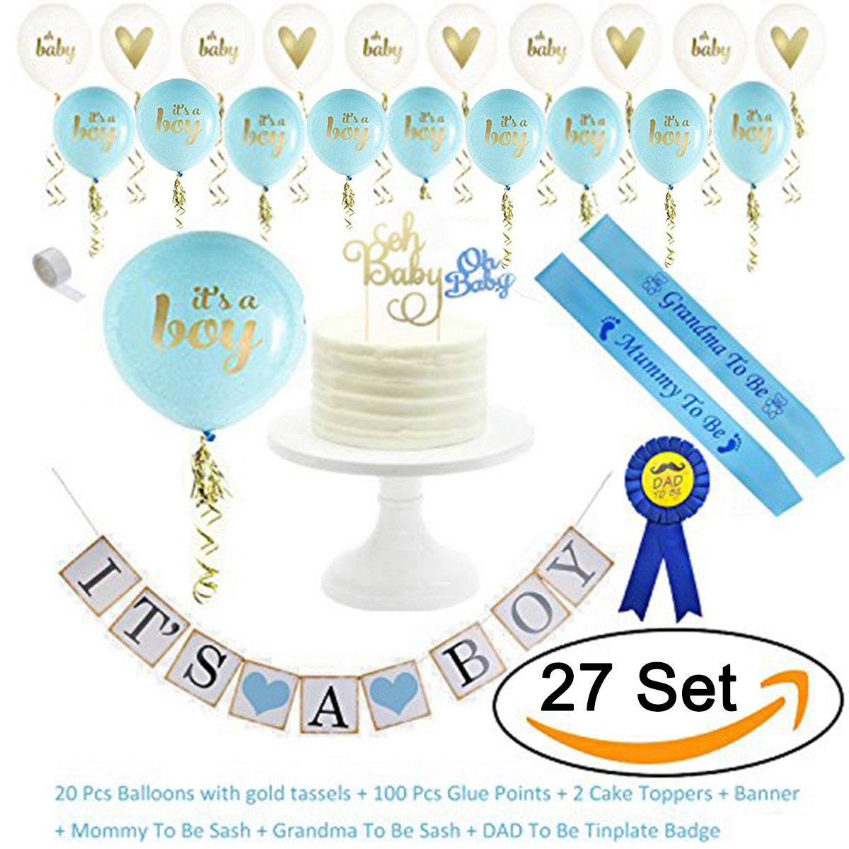 AiXiAng 10 Pcs Foil Balloons For Newborn Baby Girl Shower Party Decorations balloons-baby-4