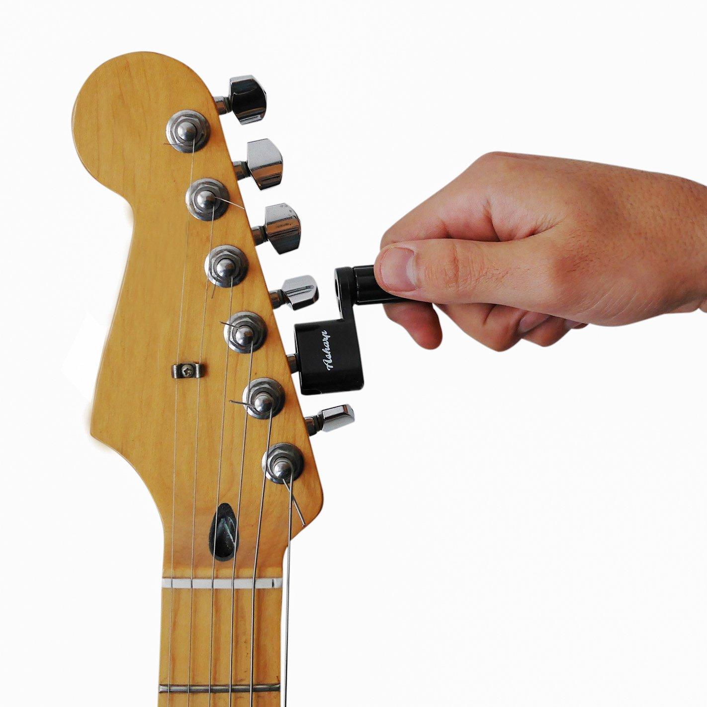 Manivela para cuerdas Asharp con 3 púas, manivela para cuerdas de alta calidad para un cambio de cuerdas rápido, para todo tipo de guitarras: Amazon.es: ...