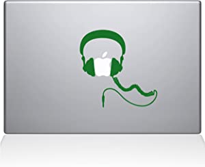 "The Decal Guru Headphones MacBook Decal Vinyl Sticker - 12"" MacBook - Green (1081-MAC-12M-LG)"