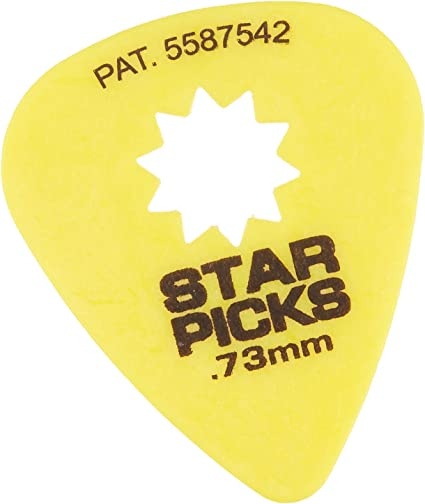 Everly Star Guitar Picks 12 Pack Variety Pack Two of Each Size