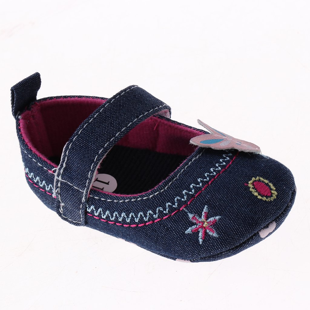 Baoblaze Toddler Baby Shoes Newborn Girls Soft Soled Princess Crib Shoes Prewalker 0-12M