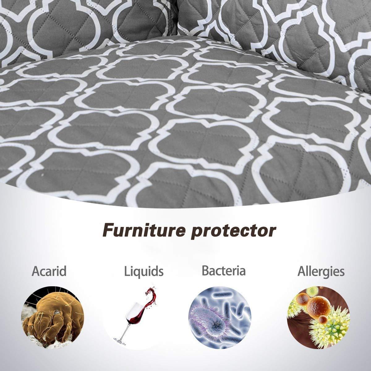 PETCUTE Funda Sofa 3 plazas Cubre Sofa Fundas de sof/á Acolchado Resistente al Agua Protector de Sof/á Muebles para Mascotas