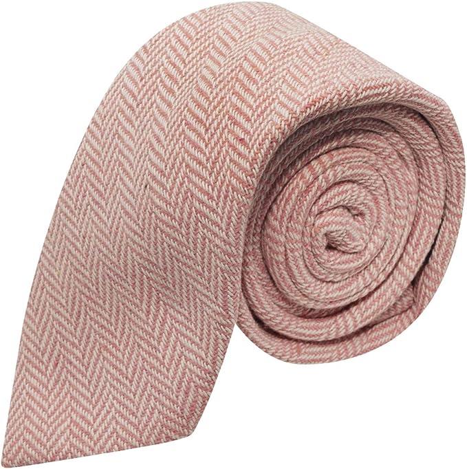 King & Priory Corbata Con Tela Espigada Premium Color Rosa Chicle ...