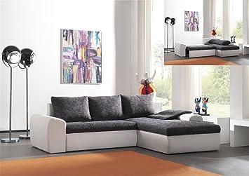 mobilier deco canap dangle rversible et convertible grisblanc scolo - Canape D Angle Gris Et Blanc