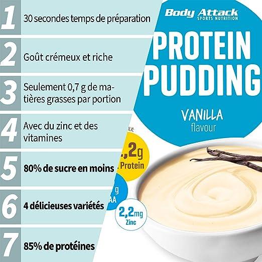 Body Attack Caramel Toffee Cream 210g Pudín de proteína