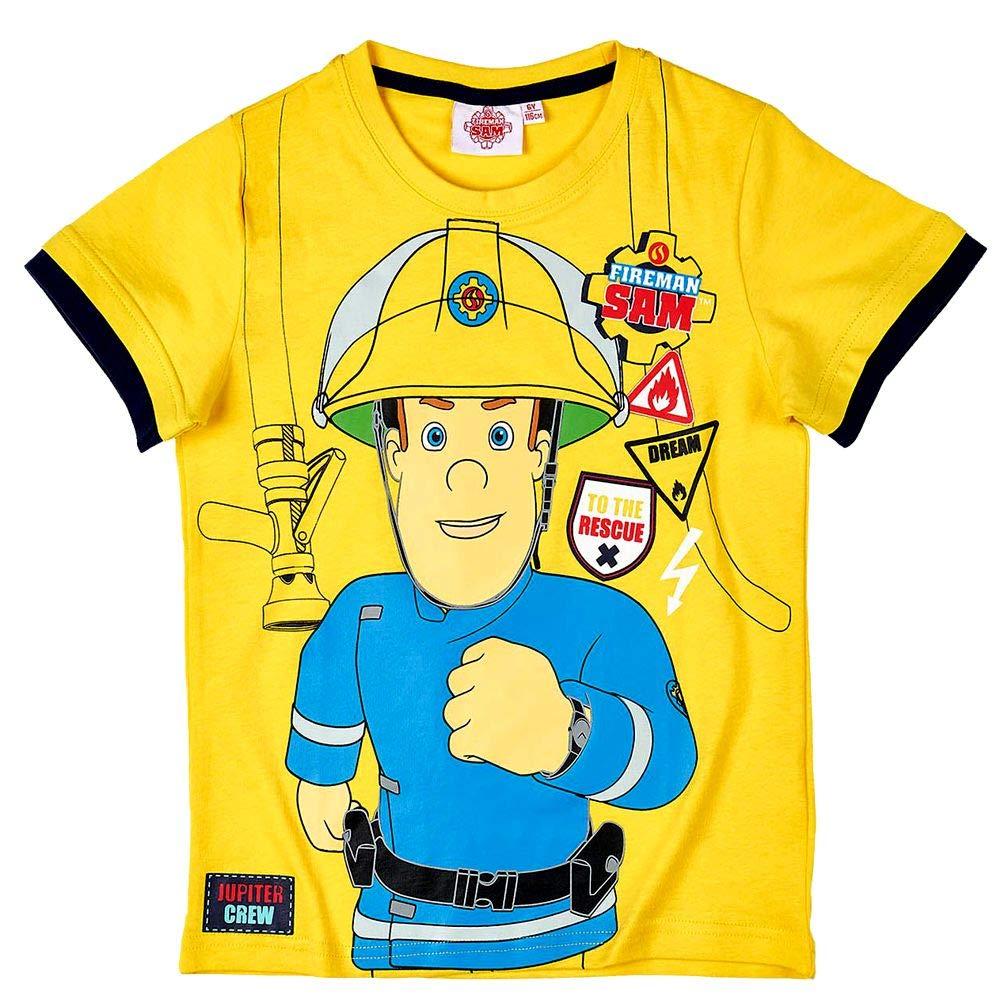 STOR S.L........ Bambini Ragazzi T-Shirt Dimensione 98-128 Fireman Sam Sam Il Pompiere