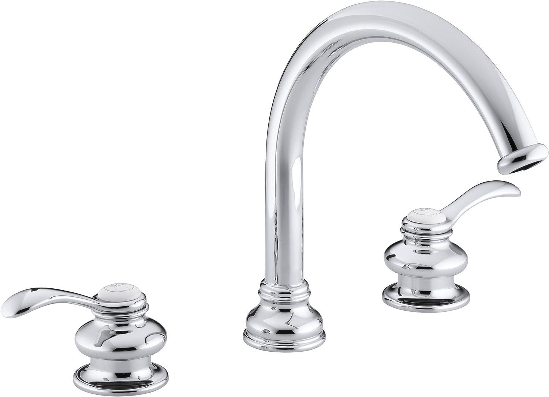 KOHLER K-T12885-4-CP Fairfax Deck-Mount Bath Faucet Trim, Polished Chrome