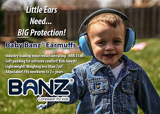 Baby Banz Earmuffs Ear Protection – The Original Infant & Toddler Hearing Headphones – The Best Design for Ages 0-2 Years – Industry Leading Noise Reduction Rating