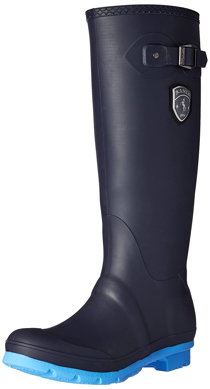 Kamik Women's Waterproof Jennifer Rain Boot B01HO0VXGI 10 B(M) US Navy/Blue