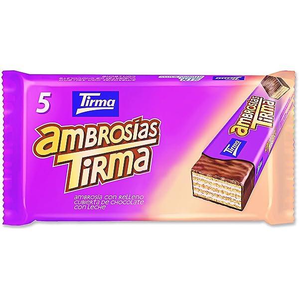 Tirma Ambrosías con Relleno Cubiertas de Chocolate con Leche - 16 Unidades x 107.5 gr: Amazon.es: Alimentación y bebidas
