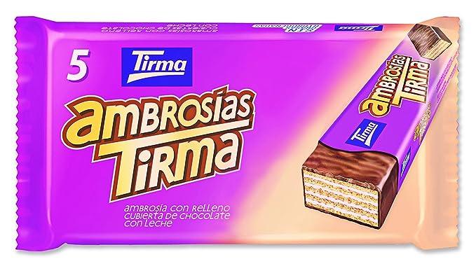 Tirma Ambrosías con Relleno Cubiertas de Chocolate con Leche - 16 Unidades x 107.5 gr